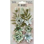 49 and Market - Handmade Flowers - Vintage Shades - Sage Cluster