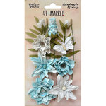 49 and Market - Handmade Flowers - Vintage Shades - Blue Cluster