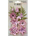 49 and Market - Handmade Flowers - Vintage Shades - Orchid Cluster