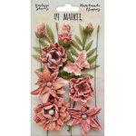 49 and Market - Handmade Flowers - Vintage Shades - Cerise Cluster