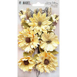 49 and Market - Flower Embellishments - Botanical Blends - Vintage Shades - Yellow