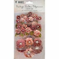 49 and Market - Handmade Flowers - Vintage Shades - Cerise Potpourri