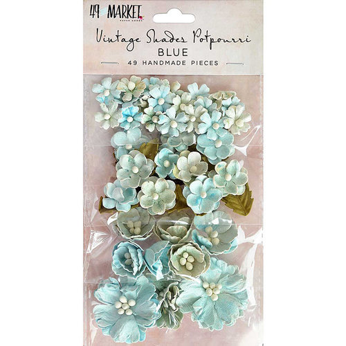 49 and Market - Handmade Flowers - Vintage Shades - Blue Potpourri
