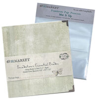 49 and Market - Foundations - 6-Ring Binder with Mix It Up Page Protectors - Vintage Sage Bundle
