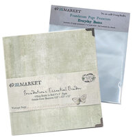 49 and Market - Foundations - 6-Ring Binder with Everyday Basics Page Protectors - Vintage Sage Bundle
