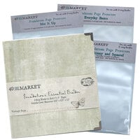 49 and Market - Foundations - 6-Ring Binder with Variety Pack Page Protectors - Vintage Sage Bundle