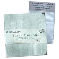 49 and Market - Foundations - 6-Ring Binder with Skinny and Squared Page Protectors - Vintage Sky Bundle