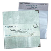 49 and Market - Foundations - 6-Ring Binder with Mix It Up Page Protectors - Vintage Sky Bundle