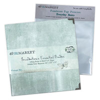 49 and Market - Foundations - 6-Ring Binder with Everyday Basics Page Protectors - Vintage Sky Bundle