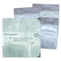 49 and Market - Foundations - 6-Ring Binder with Variety Pack Page Protectors - Vintage Sky Bundle