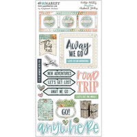 49 and Market - Vintage Artistry Anywhere Collection - Chipboard Stickers