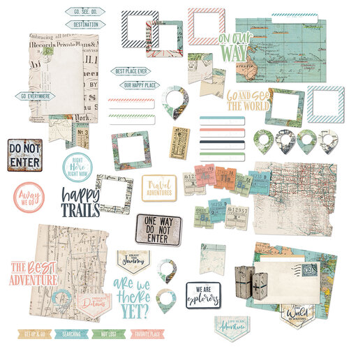 49 and Market - Vintage Artistry Anywhere Collection - Ephemera Bits