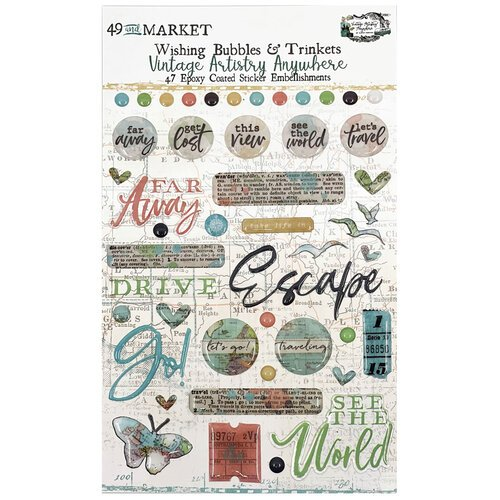 49 and Market - Vintage Artistry Anywhere Collection - Wishing Baubles and Trinkets