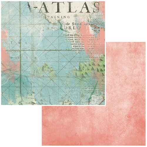 49 and Market - Vintage Artistry Anywhere Collection - 12 x 12 Double Sided Paper - Atlas