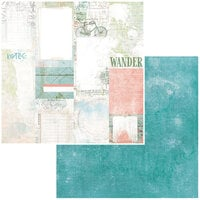 49 and Market - Vintage Artistry Anywhere Collection - 12 x 12 Double Sided Paper - Journal Cards