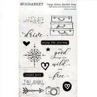 49 and Market - Vintage Artistry Anywhere Collection - Clear Photopolymer Stamps