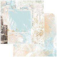 49 and Market - Vintage Artistry Beached Collection - 12 x 12 Double Sided Paper - Oceanic