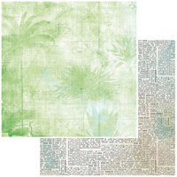 49 and Market - Vintage Artistry Beached Collection - 12 x 12 Double Sided Paper - Palm