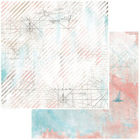 49 and Market - Vintage Artistry Beached Collection - 12 x 12 Double Sided Paper - Cartography