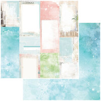 49 and Market - Vintage Artistry Beached Collection - 12 x 12 Double Sided Paper - Journal Cards