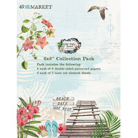 49 and Market - Vintage Artistry Beached Collection - 6 x 8 Collection Pack