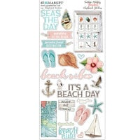 49 and Market - Vintage Artistry Beached Collection - Chipboard Stickers