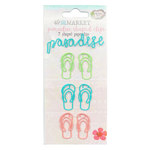 49 and Market - Vintage Artistry Beached Collection - Shaped Clips - Paradise
