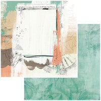 49 and Market - Vintage Artistry Hike More Collection - 12 x 12 Double Sided Paper - Abyss