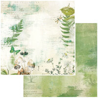 49 and Market - Vintage Artistry Hike More Collection - 12 x 12 Double Sided Paper - Boscage