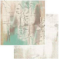 49 and Market - Vintage Artistry Hike More Collection - 12 x 12 Double Sided Paper - Backwoods