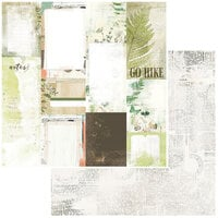 49 and Market - Vintage Artistry Hike More Collection - 12 x 12 Double Sided Paper - Journal Cards