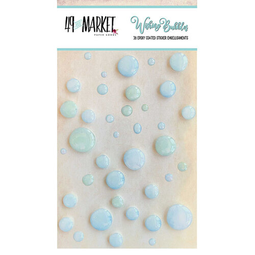 49 and Market - Wishing Bubbles - Epoxy Stickers - Minty Breeze