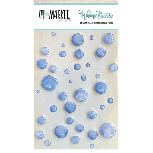 49 and Market - Wishing Bubbles - Epoxy Stickers - Blueberry