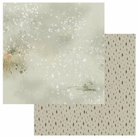 49 and Market - Winters Edge Collection - Christmas - 12 x 12 Double Sided Paper - Snowdrift