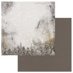 49 and Market - Winters Edge Collection - Christmas - 12 x 12 Double Sided Paper - Snow Covered Trees