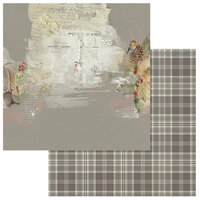 49 and Market - Winters Edge Collection - Christmas - 12 x 12 Double Sided Paper - Robin's Note