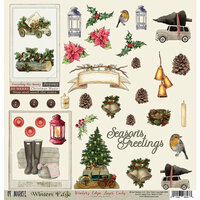 49 and Market - Winters Edge Collection - Christmas - 12 x 12 Double Sided Paper - Laser Cuts