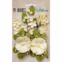 49 and Market - Flower Embellishments - Wildflowers - Cream