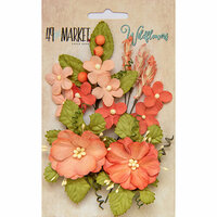 49 and Market - Flower Embellishments - Wildflowers - Tangerine