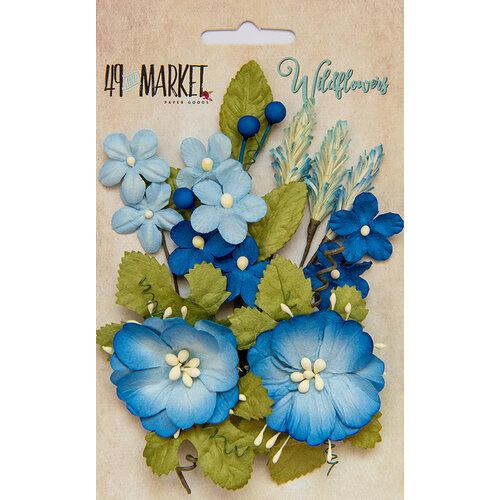 49 and Market - Flower Embellishments - Wildflowers - Cobalt