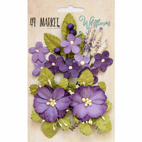 49 and Market - Flower Embellishments - Wildflowers - Violet