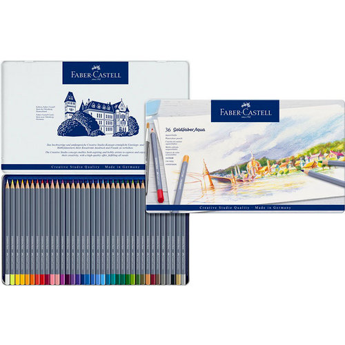 Faber-Castell - Goldfaber - Aqua Watercolor Pencil - Tin of 36