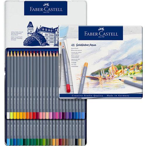 Faber-Castell - Goldfaber - Aqua Watercolor Pencil - Tin of 48