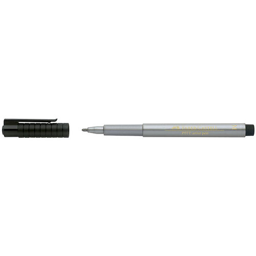 Faber-Castell - Mix and Match Collection - Pitt Artist Pens - Metallic - 251 - Silver