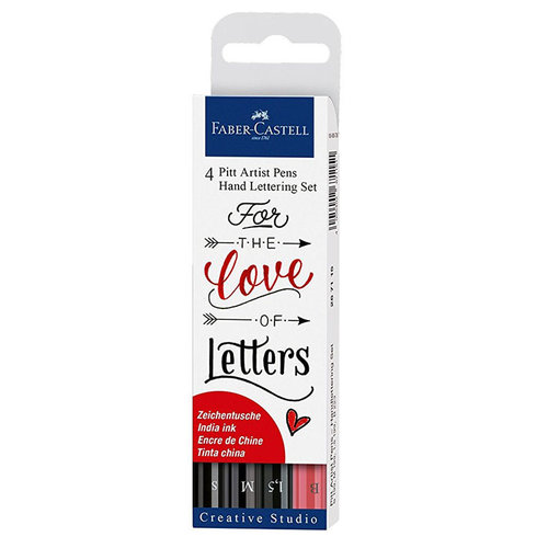 Faber-Castell - Mix and Match Collection - Pitt Artist Pens - Hand Lettering Set - 4 Piece Set