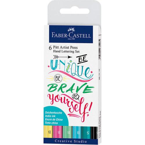 Faber-Castell - Mix and Match Collection - Pitt Artist Pens - Hand Lettering Set I - 6 Piece Set