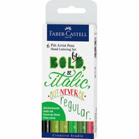 Faber-Castell - Mix and Match Collection - Pitt Artist Pens - Hand Lettering Set II - 6 Piece Set