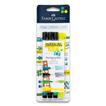 Faber-Castell - Mix and Match Collection - Pitt Artist Pens - Journaling Art - 4 Piece Set
