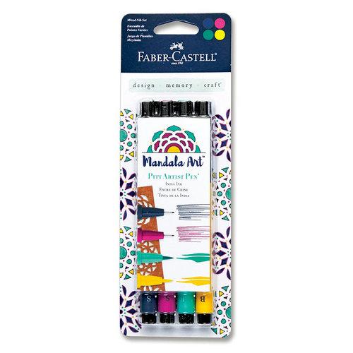 Faber-Castell - Mix and Match Collection - Pitt Artist Pens - Mandala Art - 4 Piece Set