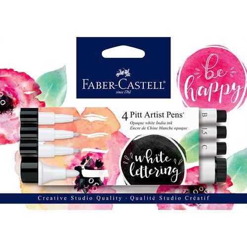 Faber-Castell - Pitt Artist Pens - White Lettering 4ct Set